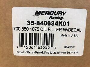 New Mercury Mercruiser Quicksilver Oem Part # 35-840634K01 Filter-Oil
