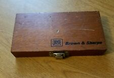 Brown Amp Sharpe Outside Micrometer With Box Swiss Made
