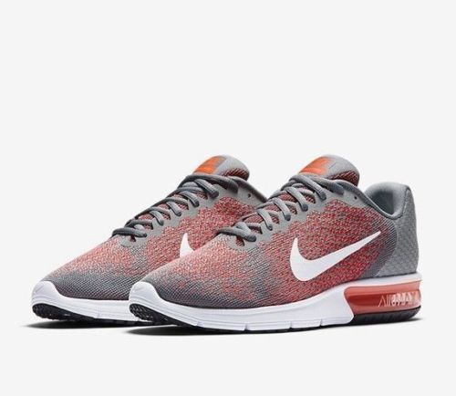 Mens Nike Air Max Sequent 2 852461-008 Cool Grey Brand New Size 10.5