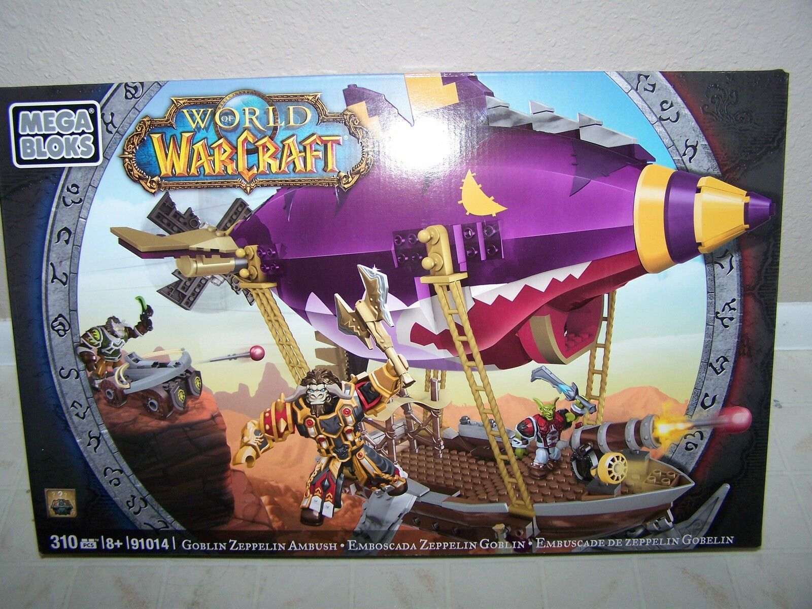 MEGA BLOKS WORLD WAR CRAFT GOBLIN ZEPPELIN AMBUSH