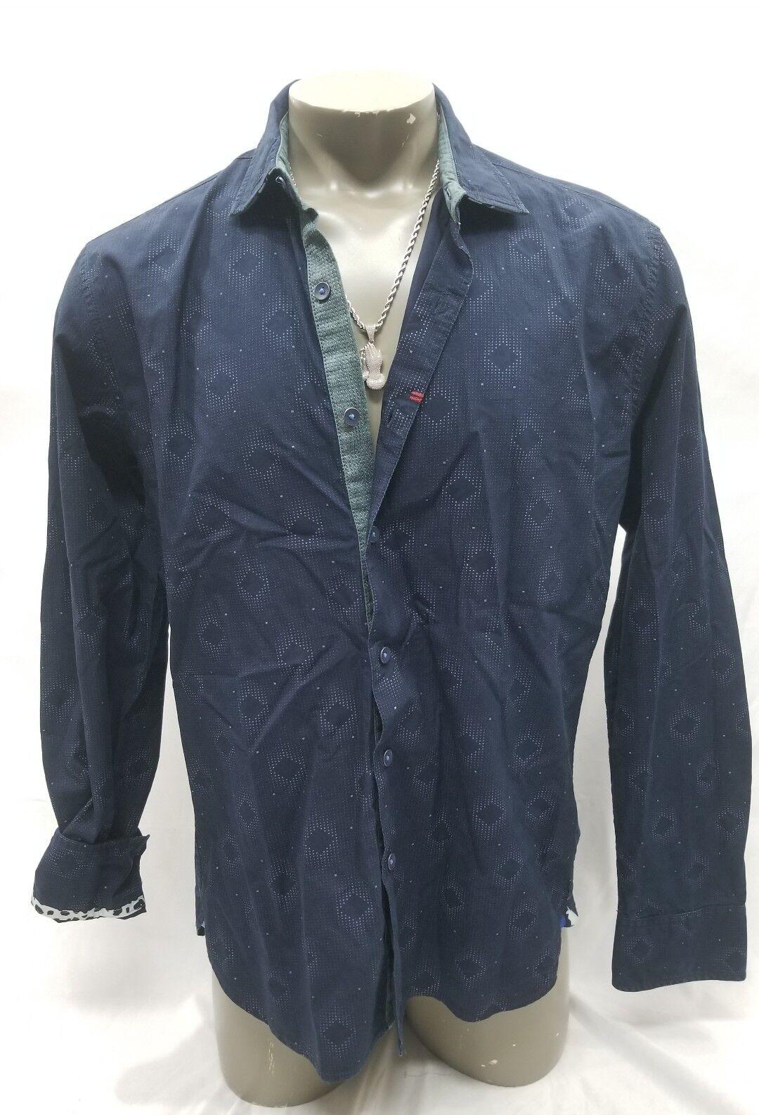 Robert Graham Long Sleeve Button Down Shirt Men's Size XL bluee