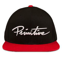 Primitive Men's Nuevo Script Snapback Hat Black Casual Headwear Baseball Cap on sale