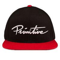Primitive Men's Nuevo Script Snapback Hat Black Casual Headwear Baseball Cap on sale