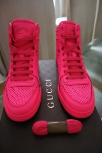 Genuine Gucci bright pink trainers size