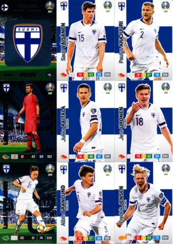 Finnland alle 18 Basis-Karten komplett Panini Adrenalyn XL UEFA EURO 2020