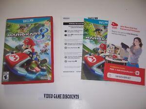 original box case with manual for nintendo wii u wiiu mario kart 8 rh ebay com Mario Kart Wii Manual Wii Online Manual