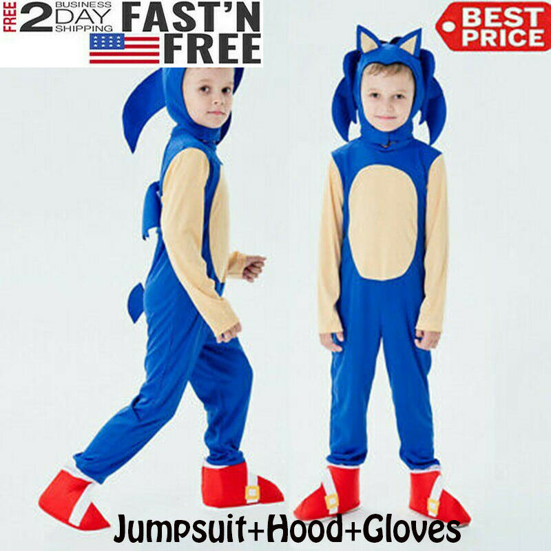 Sonic Generations The Hedgehog Costume Cosplay Disguise Halloween Medium For Sale Online Ebay