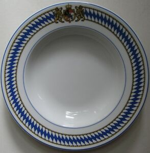 BAYERN-DESIGN-CREA-TABLE-WEISSWURSTTELLER-TIEF-TELLER-22-5-cm-NEU