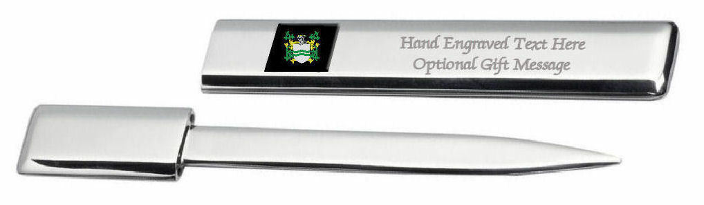 Howerton Famille  Blason Heraldic Engraved Ouvre-Lettre