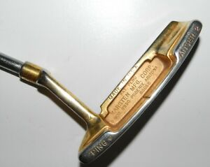 Vintage-Ping-Anser-2-Pat-Pend-Gold-Finish-putter-Made-in-USA-Right-hand