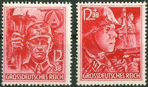 Deutsches-Reich-Nr-909-910-DR-postfrisch-MNH-SA-SS-1945-WW-II-German-Army