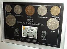 Munich accidente aéreo desastre de Manchester United la Busby Babes moneda Set De Regalo De 1958