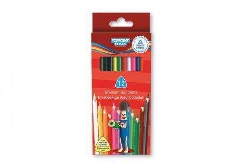 Dreikantbuntstifte je 12 Stück lang Stylex 2 Pack