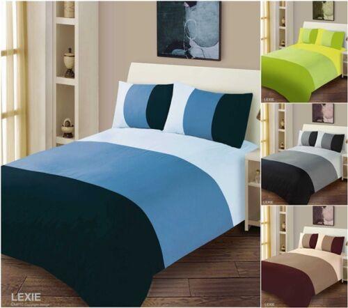 Duvet Cover Pillow Case Solid Stripe Bedding Set Quilt Cover Single Double King