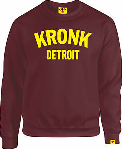 da uomo Detroit Felpa uomo girocollo da Kronk YIFa5wF