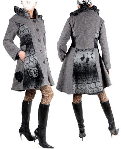 42 manteau 48 46 38 laine L 40 Lagenlook Manteau de en d'hiver 44 U588qF