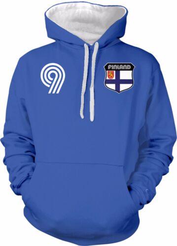 Finland Finnish National Country Pride Suomi Futbol  2-tone Hoodie Pullover