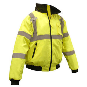 b3060f37dde Hi Vis Class 3 Safety Bomber Jacket - Zip Out Lining - Free Shipping ...