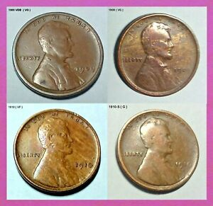 1909-VDB-1909-1910-amp-1910-S-Lincoln-Cent-Lot