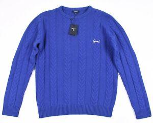 GANT E.Lammwolle Mischung Kabel Herren Rundhals Pullover Größe XL, 2XL