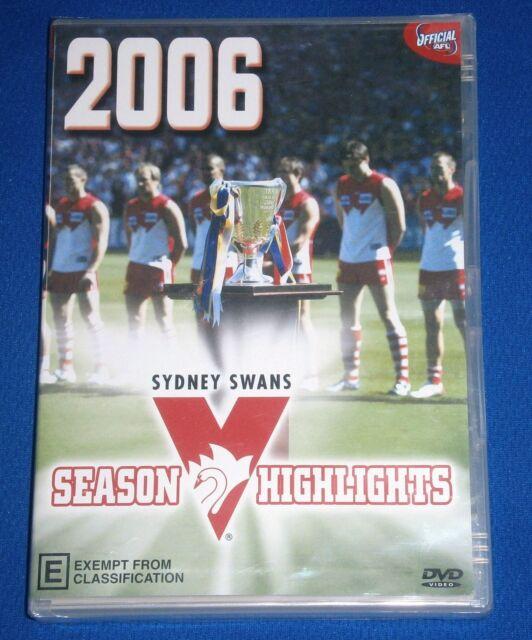 New Unopen 2006 Sydney Swans DVD Season Highlights 80 minutes AFL Adam GOODES