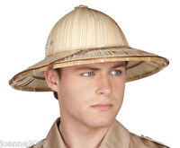 Safari Jungle Explorer Fancy Dress Accessory African Army Straw Pith Helmet Hat
