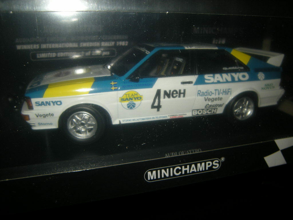 1 18 Minichamps Audi Quattro Rally Sweden Limited Edition 1 of 350 PC in OVP