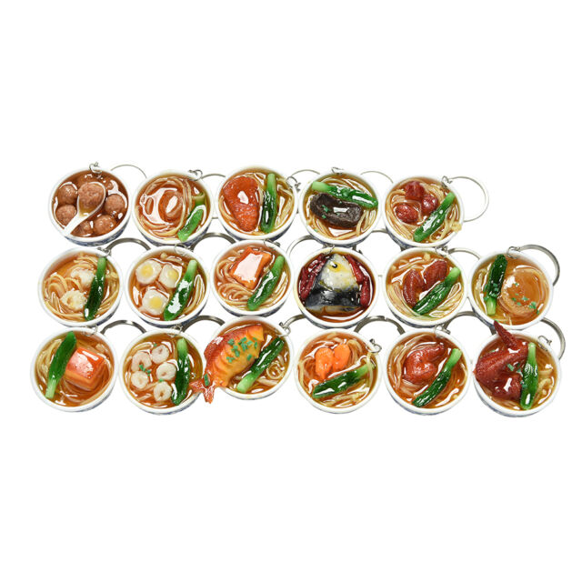 Simulation Food Key Chains Chinese Food Bowl Keyring Creative Bag Chain*