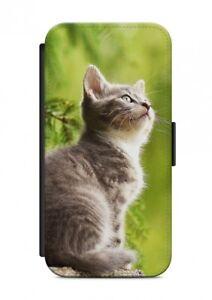 HTC-ONE-GATTO-CAT-ANIMALE-CUSTODIA-FLIP-Case-Cover-Protezione-cellulare-V12