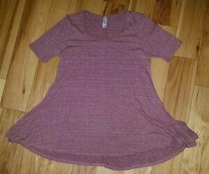 Womens Lularoe Perfect T Tee Shirt Heathered Pink Solid Size XS X-Small
