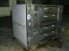 Bakers Pride Ds805 Natural Deck Gas Double Pizza Ovens With Legs And Stones