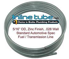 "OE Zinc Automotive Steel Brake Fuel Transmission Line Tubing 5/16"" OD Coil Roll"