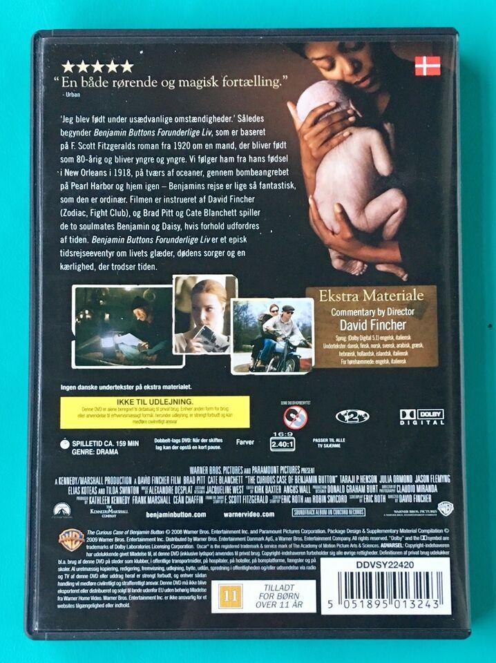 Benjamin Buttons forunderlige liv, DVD, drama