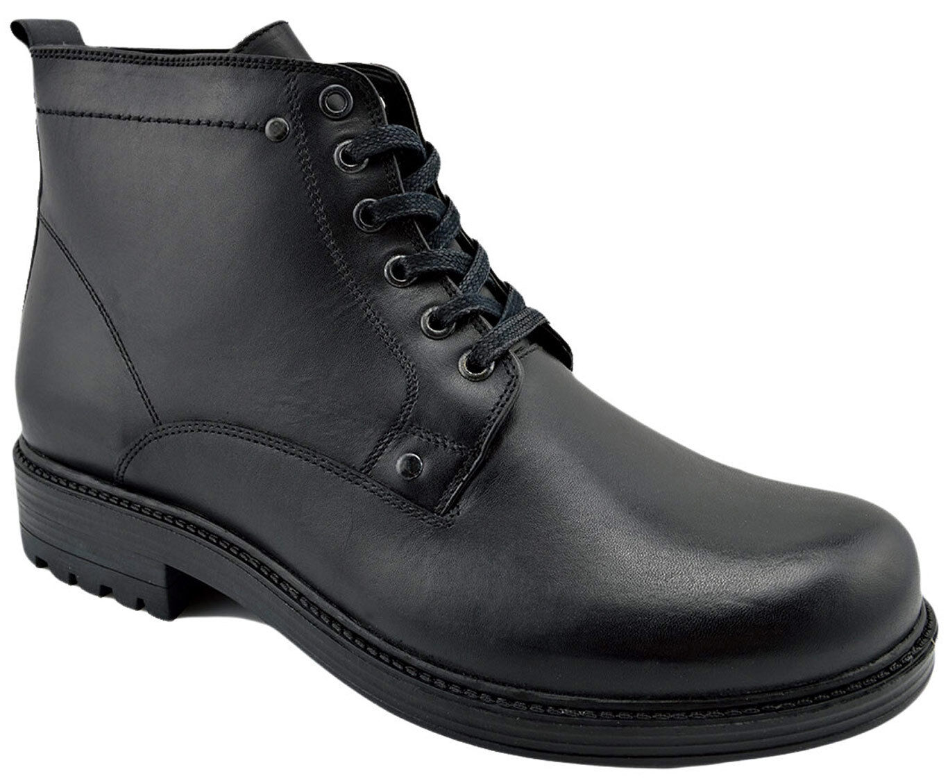 230 OVATTO Black Calf Hiking Leather Ankle Boots Men shoes NEW COLLECTION
