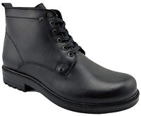 $230 OVATTO Black Calf Hiking Leather Ankle Boots Men Shoes NEW COLLECTION