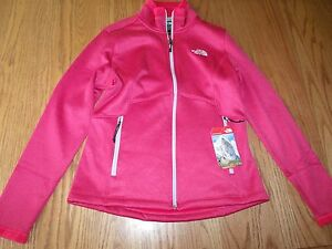 3185b7dde NWT THE NORTH FACE AGAVE JACKET ROSE RED HEATHER FULL ZIP PINK ...