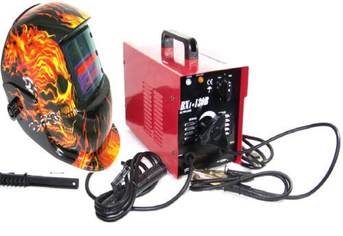 Arc Welder 130 A Machine Rod 110 v Flame Auto Darkening Helmet Welder Mask STICK