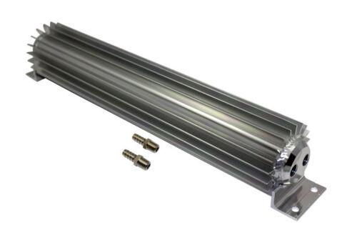 "Universal 15/"" Dual Pass Finned Aluminum Transmission Cooler Hot Rod Rat Rod SBC"