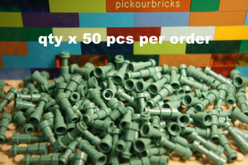 LEGO 64644 Sand Green TELESCOPE Stick Ø3.2 2mm w/ Knob &Tube - 50 Pcs