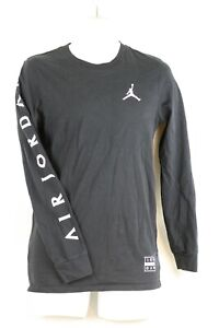 abf92d5fb3be Mens Michael Air Jordan Jumpman Basketball Black Long Sleeved Shirt ...