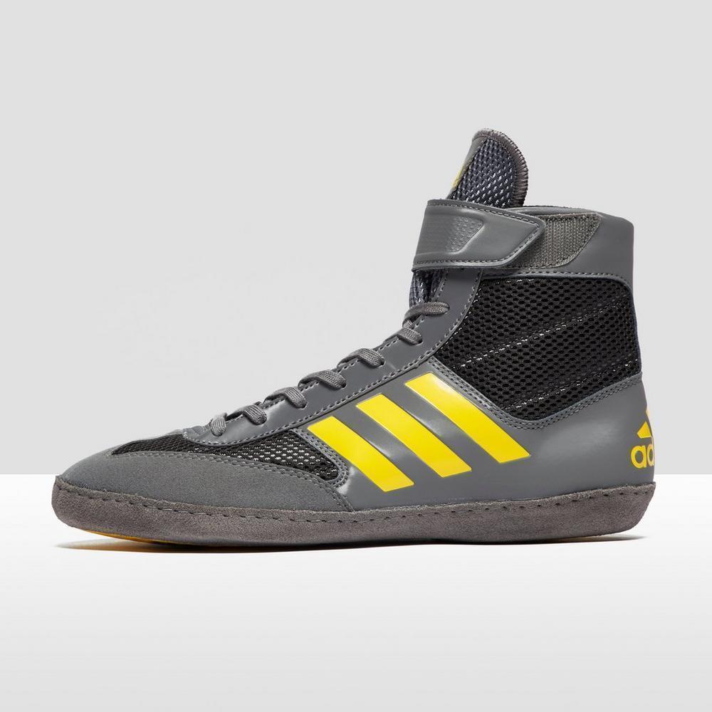 Adidas Combate Speed 5 Lucha Libre Zapatos gris y Negro Zapatillas Tipo Bota
