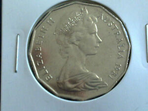 AUSTRALIAN-50-CENT-1981-EXTREMELY-FINE-CIRCULATED