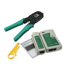 NEW RJ45 RJ11 RJ12 CAT5 CAT5e Portable LAN Network Tool Kit Utp Cable Test