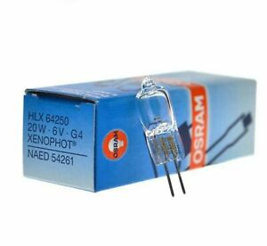 Osram Microscope Halogen Lamp HLX64250 6V20W G4 XENOPHOT Optical Instrument Bulb