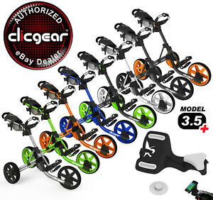 New-Clicgear-3-5-Golf-Push-Cart-Pick-Your-Color-Pick-Your-Free-Accessory