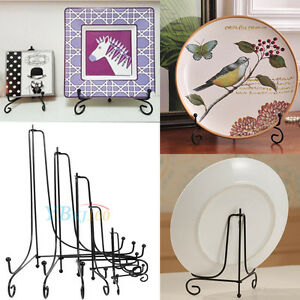 Iron-Easel-Bowl-Plate-Art-Photo-Picture-Frame-Holder-Book-Display-Stand-Foldable