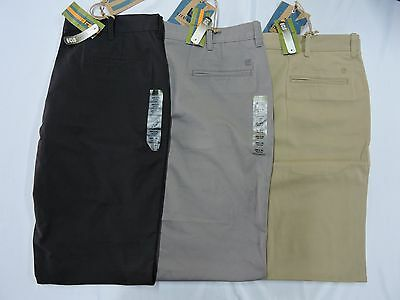 NEW Haggar Men's Life Khaki Straight Fit Flat Front Chino Pants - VARIETY