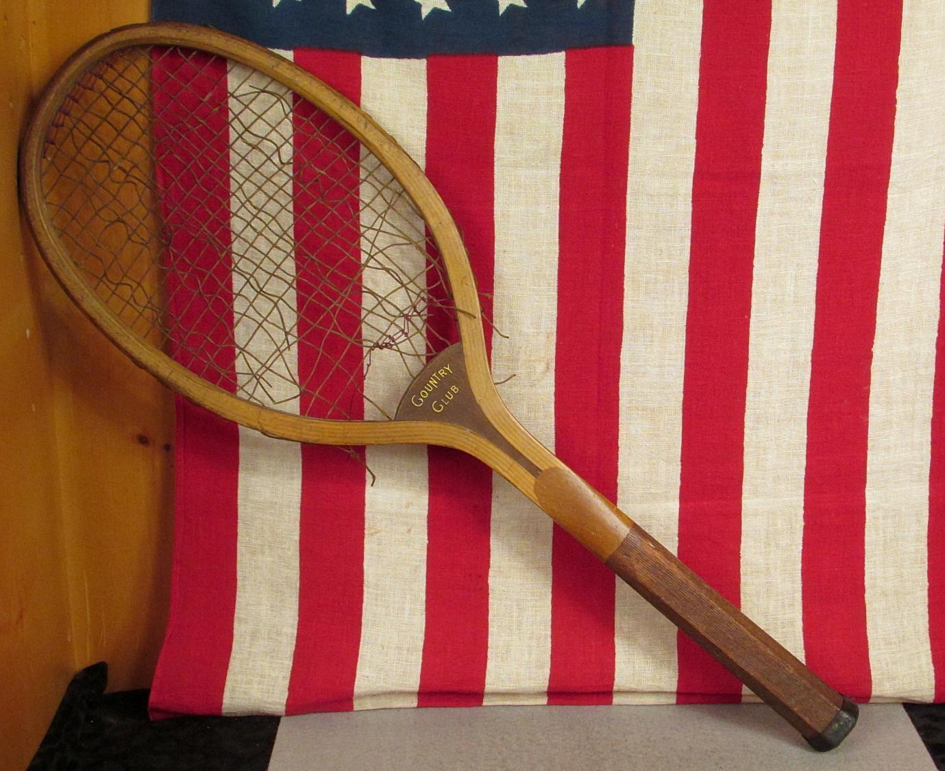 Vintage 1920s Wright & Ditson Antik Holz Holz Holz Tennisschläger Country Club Anzeige ebd8e9