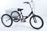 20 Wheel Trike,pedal Pals Tri-mantis Tricycle Inside Leg 21-26 Black Pink