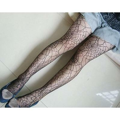 Women Girl New Elastic Stocking Black Hollow Spider Web Hosiery Tights Pantyhose